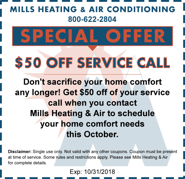 air conditioner service coupon october 2018