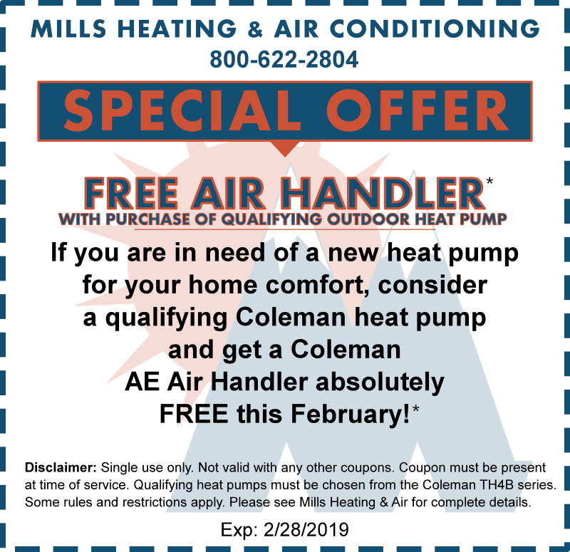 free air handler with heat pump february 2019