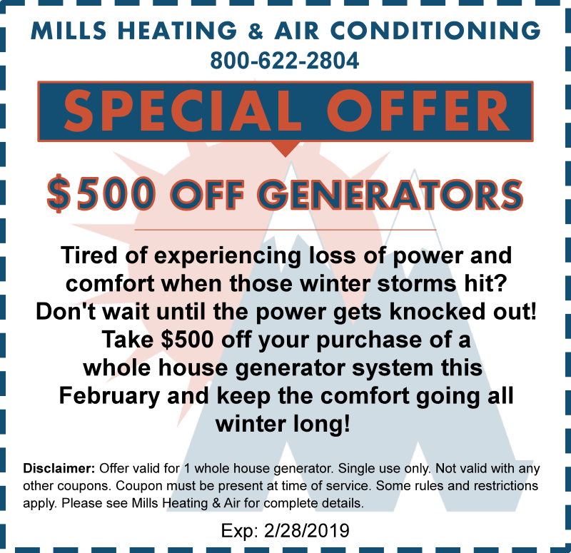 whole house generator coupon special offer february 2019