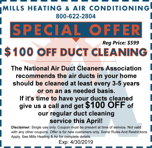 HVAC DUCT CLEANING SPECIAL OFFER COUPON APRIL
