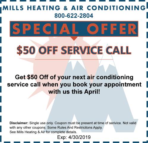APRIL HVAC SERVICE CALL SPECIAL OFFER