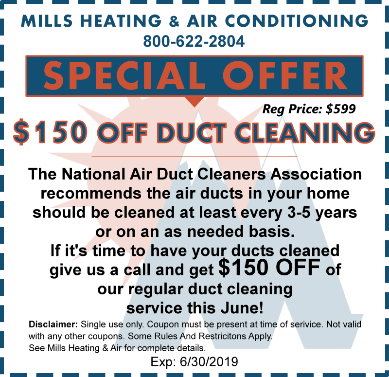 HVAC DUCT CLEANING SPECIAL OFFER COUPON JUNE