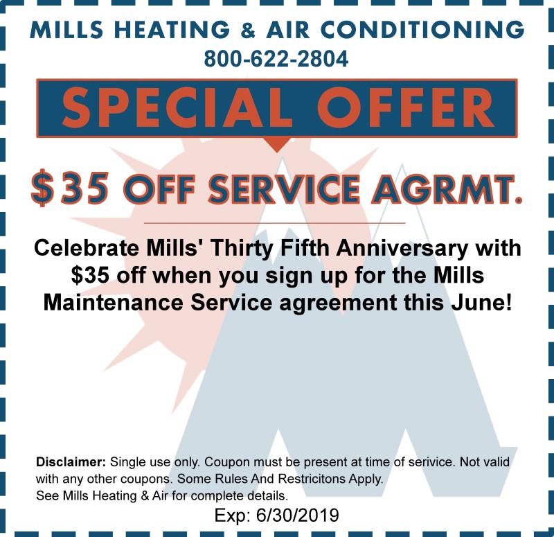 June hvac maintenance service agreement special offer