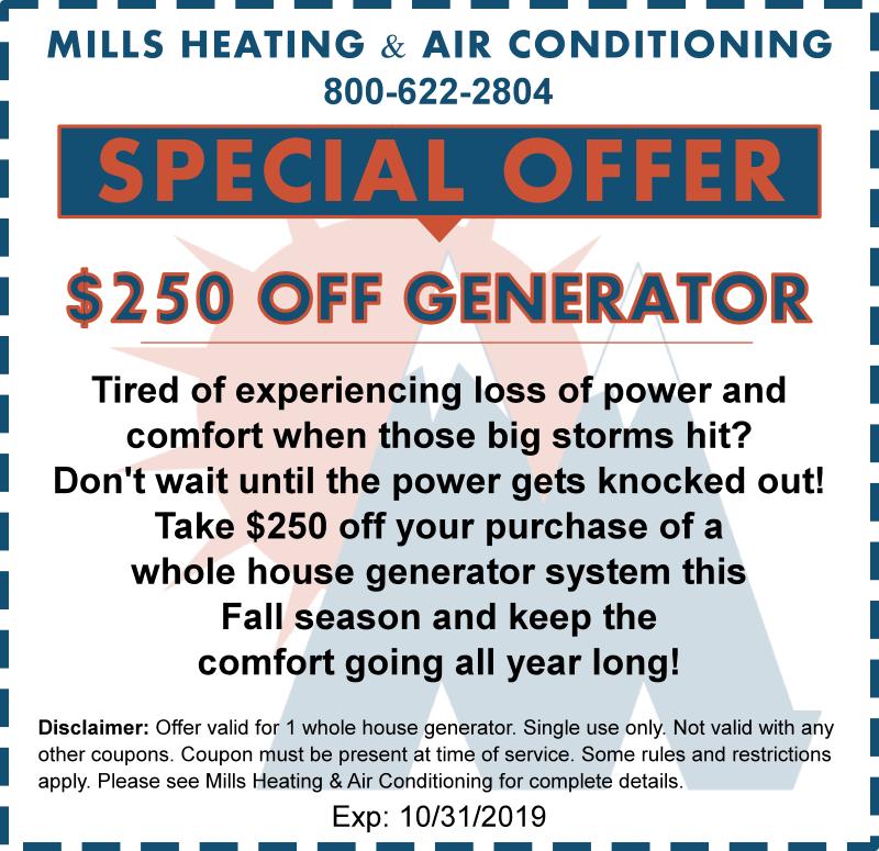 generator discount october 2019