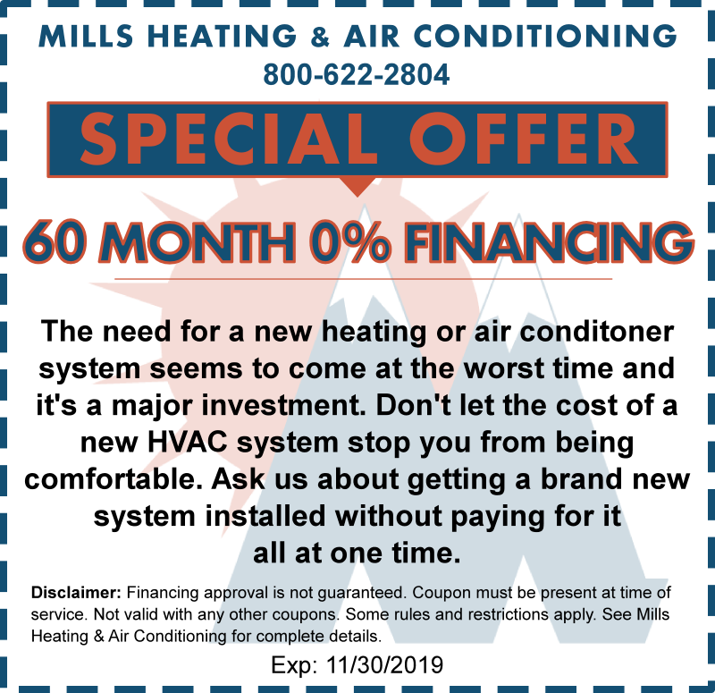 november heating financing special offer coupon