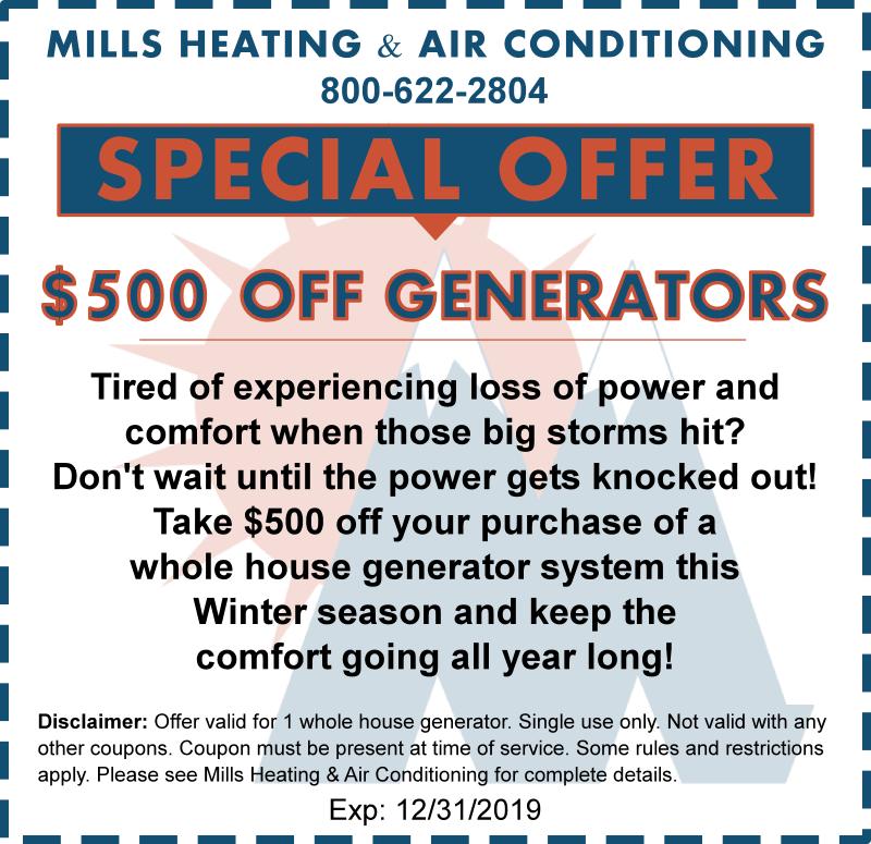 home generator coupon discount december 2019