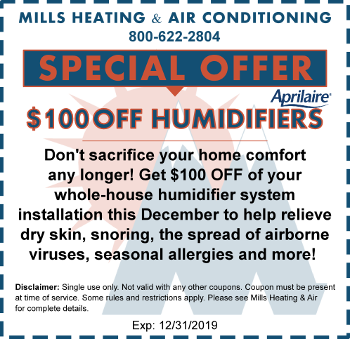 humidifier hvac special december 2019