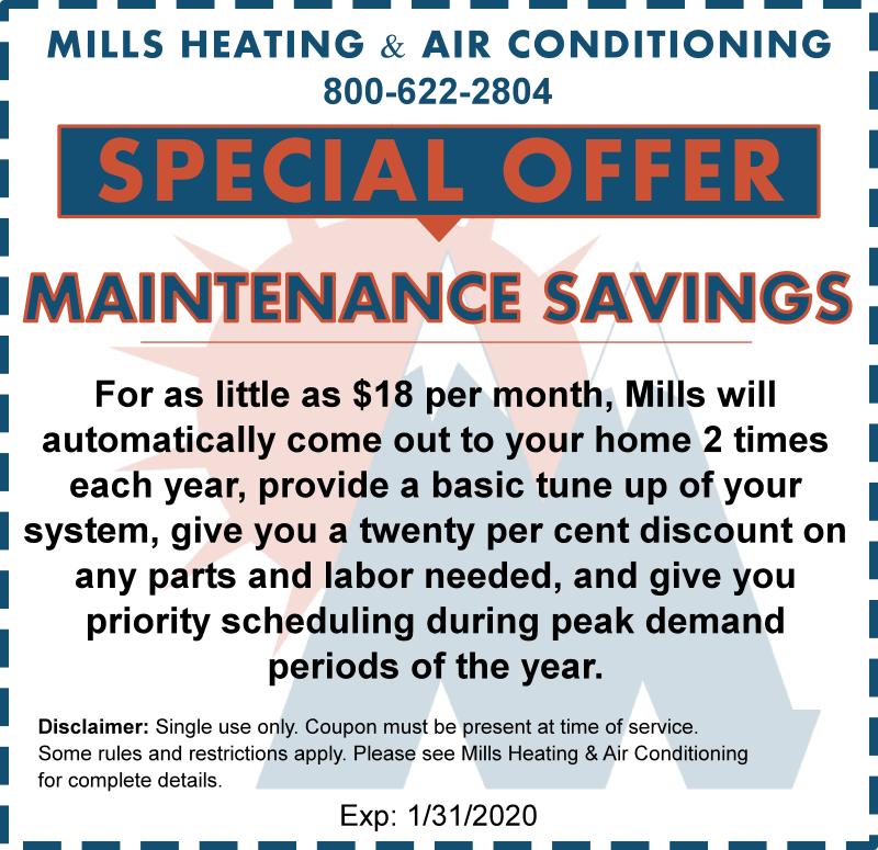 hvac maintenance savings agreement january 2020 special coupon