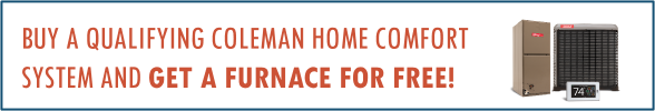 coleman furnace special offer february 2020