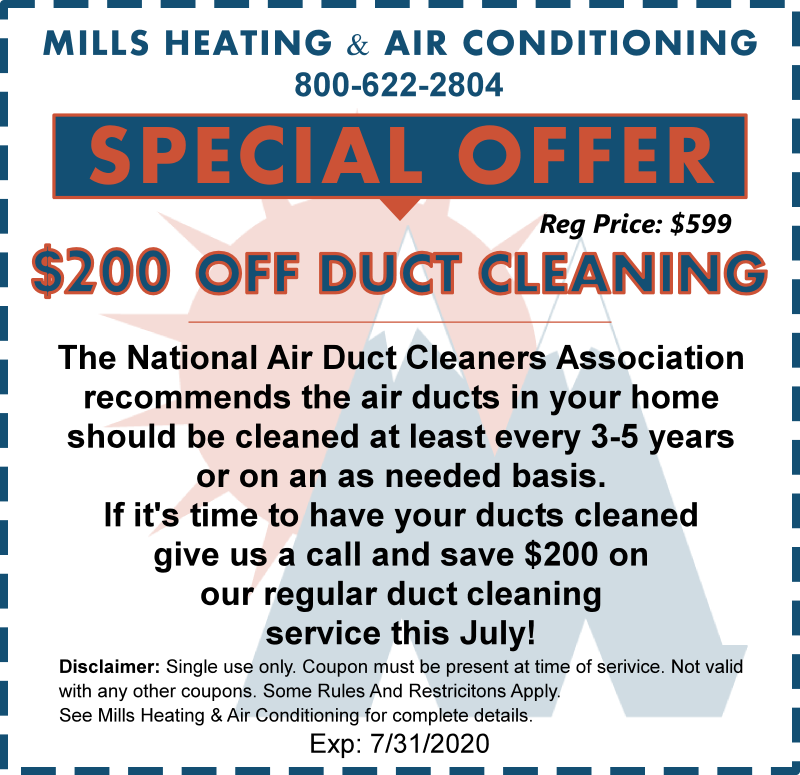 July 2020 ac duct cleaning special discount offer