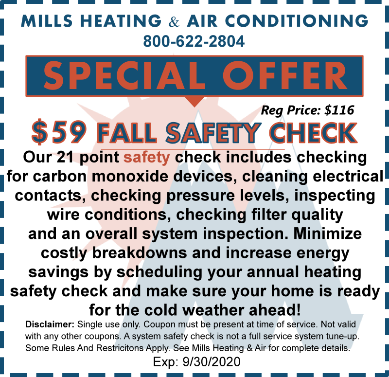 September2020 Heating SYSETM Safety Check Special discount Offer