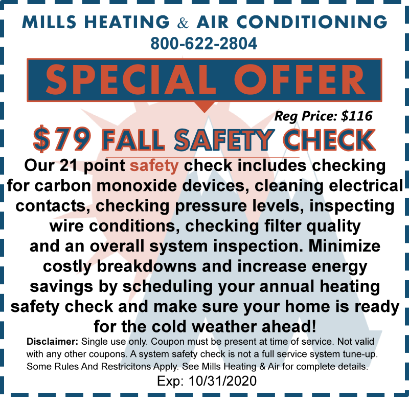 october 2020 hvac furnace heating system check special offer discount coupon